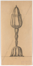 "Ferdinand OPITZ - Dibujo Acuarela - ""Project for Art Deco Vase"", drawing, 1920s"