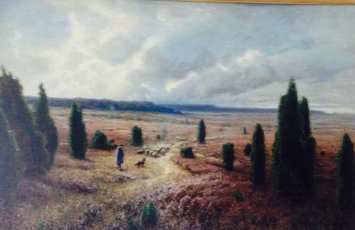 Ascan LUTTEROTH - Painting - Schäfer in der Lüneburger Heide