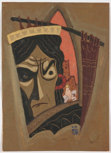 "Erwin STOLZ - Peinture - ""King"" Tempera by Erwin Stolz"