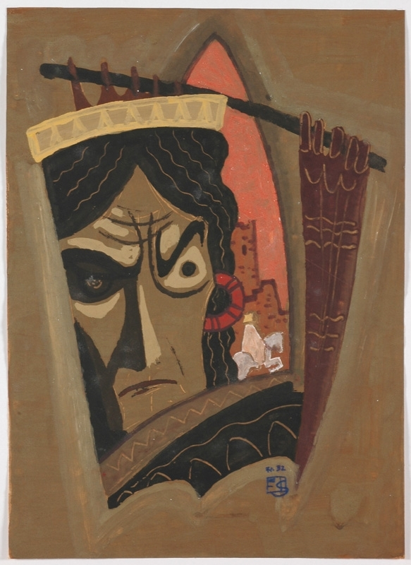 "Erwin STOLZ - Gemälde - ""King"" Tempera by Erwin Stolz"