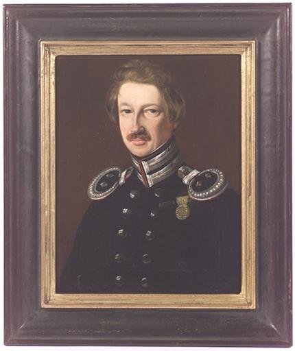 "Johann Heinrich RICHTER - Gemälde - German Officer"", Oil on Canvas, early 19th Century"