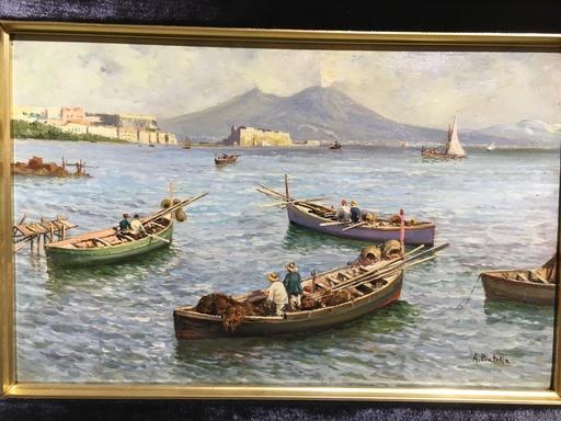 Attilio PRATELLA - Painting - Marina napoletana
