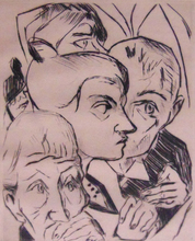 Max BECKMANN (1884-1950) - Illustration for Chapter Four, from: The Duchess | Die Fürst