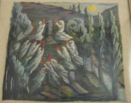Angelika FURER-DENZ - Tapestry - Feu follets / Irrlichter / Will-o'-the-wisps