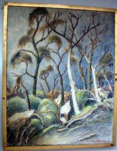 Fernand LAVAL (1886/95-1966) -  DEUX ARBRES MORTS FORET DE RAMBOUILLET