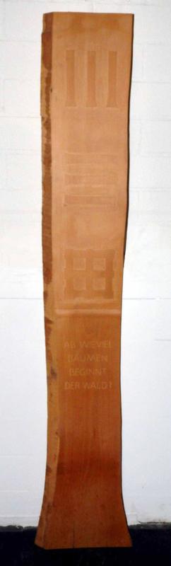 Hugo SUTER - Sculpture-Volume - Ab wieviel Bäumen beginnt der Wald