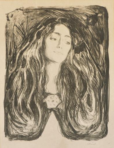 Edvard MUNCH - Print-Multiple - The Brooch. Eva Mudocci