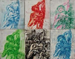 Nathalie GRANGE - Pintura - composition d'après l'esclave