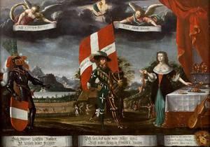 Albrecht KAUW - Painting - Allégorie de la Suisse