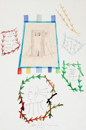 Mimmo PALADINO - Drawing-Watercolor - S.t.
