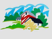 Tom WESSELMANN - Print-Multiple - House and Barn in the Distance