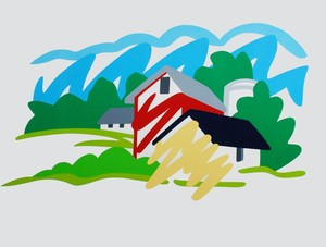 Tom WESSELMANN - Stampa Multiplo - House and Barn in the Distance