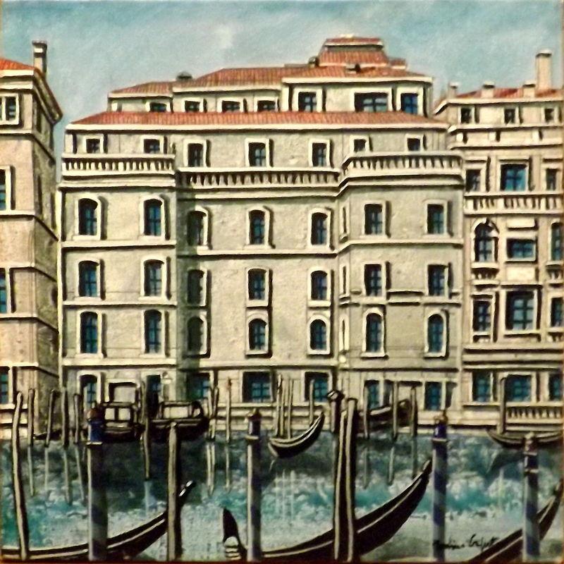 Tonino CAPUTO - Painting - Venezia; hotel Regina_ Venice Regina hotel