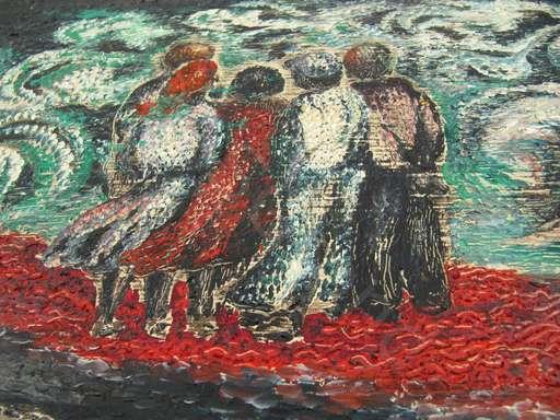 Elin SVIPDAG - Painting - Figuren am Meer