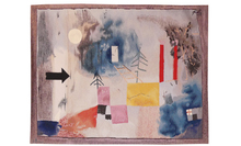 Paul KLEE - Teppiche - En passant près des colonnes rouges