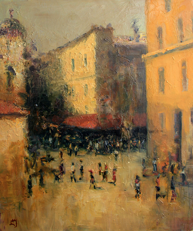 Levan URUSHADZE - Painting - Pedestrian street