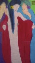 TING Walasse - Painting - 3 ladies
