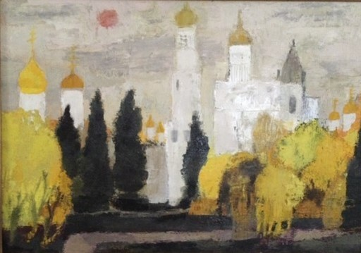 Bernard CATHELIN - Painting - Gardens of the Kremlin