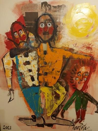 Victor Manuel MARIÑAS LUIS - Pittura - Los tres payasos