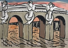 曼•雷 - 版画 - Le Pont Neuf
