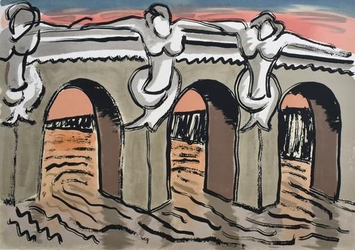 MAN RAY - Grabado - Le Pont Neuf