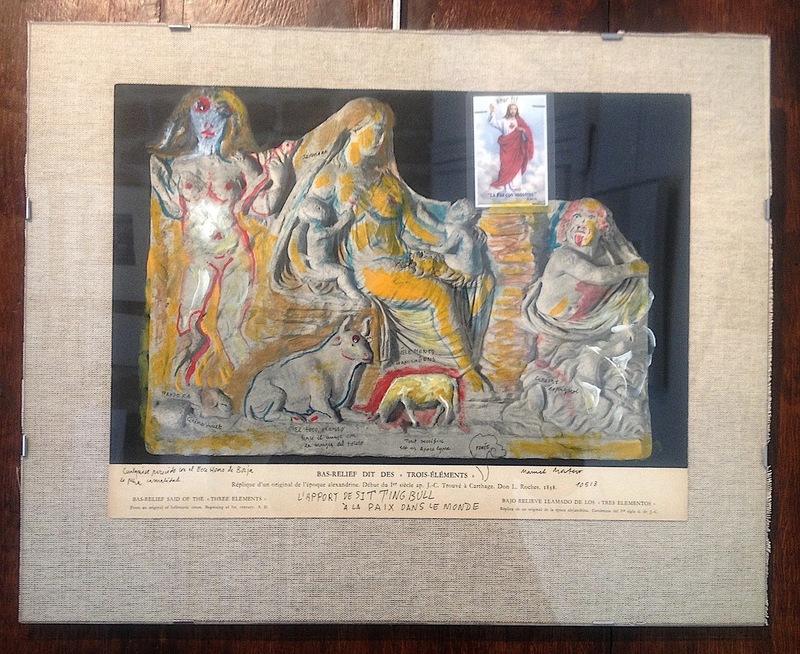 Manuel MONTERO - Dessin-Aquarelle - L'apport de Sitting Bull à la paix du monde