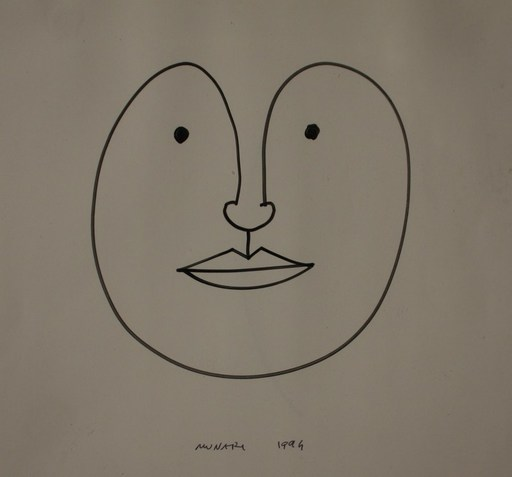 Bruno MUNARI - Disegno Acquarello - SENZA TITOLO