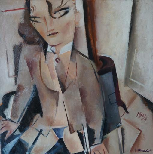 Alberto MANFREDI - Pintura - Modella col colletto inamidato
