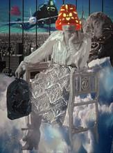 Jean-Luc CURABET - Painting - L'île qui flotte dans le ciel