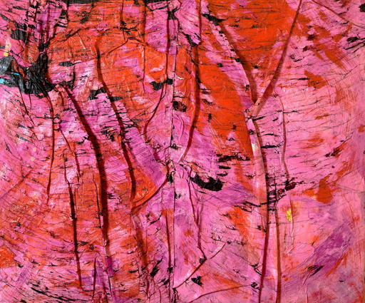 Angel OTERO - Peinture - Blurred kiss
