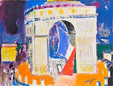 Bernard LORJOU - Pintura - L' Arc de Triomphe