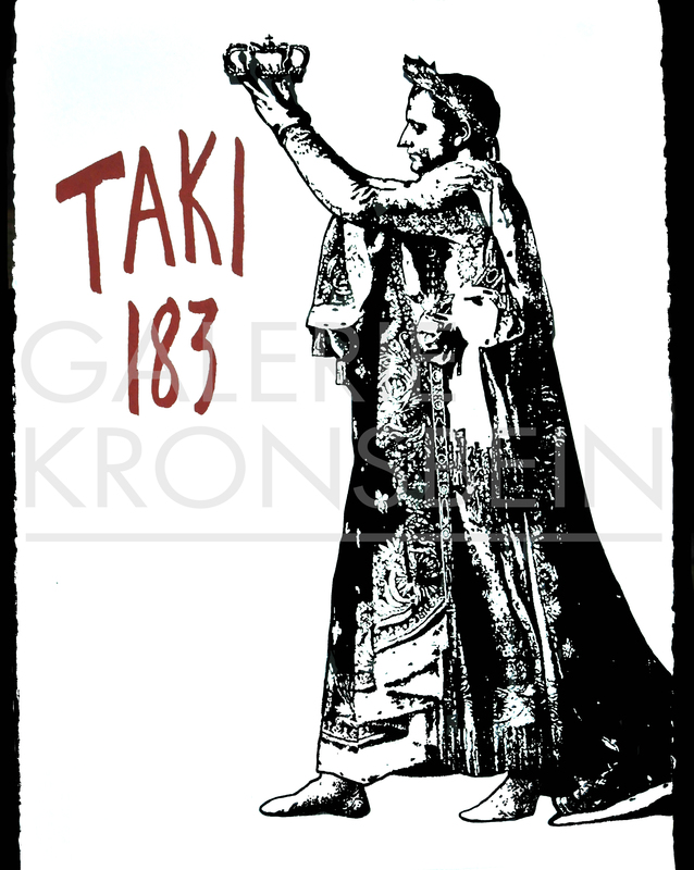 BLEK LE RAT - Stampa Multiplo - Napoleon crowning Taki 183