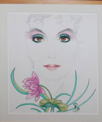 Steven KLUCHIK - Drawing-Watercolor - Portrait of Cher