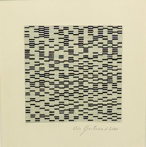 Ode BERTRAND - Zeichnung Aquarell - Miniature