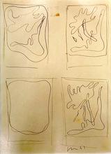 Lucio FONTANA - Dessin-Aquarelle - Studio