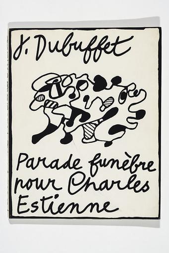 Jean DUBUFFET - Grabado - Parade funèbre pour Charles Estienne
