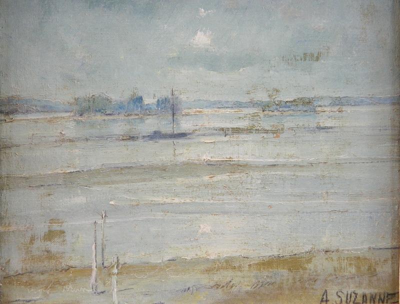 André SUZANNE - Painting - La loire en Anjou