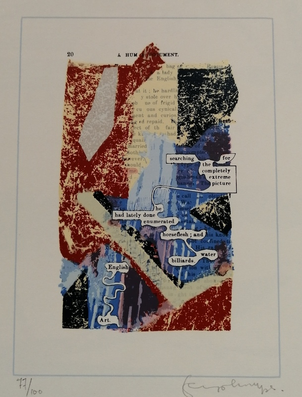 Tom PHILLIPS - Estampe-Multiple - A Hum Document