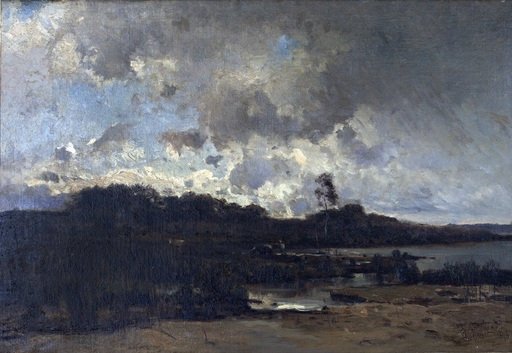 Amédée BAUDIT - Pintura - Landscape in France
