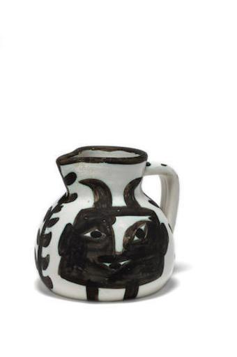 Pablo PICASSO - Ceramic - Pichet tête carrée