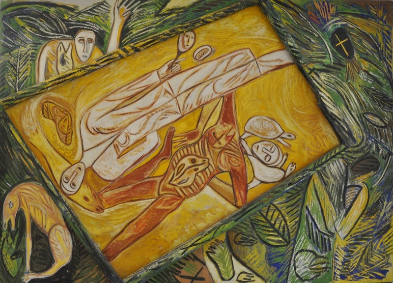 Mimmo PALADINO - Gemälde - Pozzo di eroi