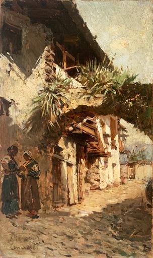 Raffaello TANCREDI - Pintura - Scorcio di Levico, Trento