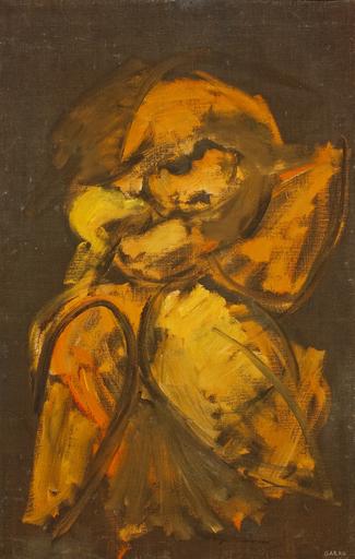 Augusto GARAU - Pittura - Schizzo di figura urlante