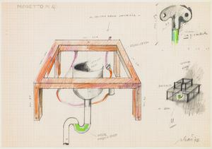 Fabrizio PLESSI - Drawing-Watercolor - Progetto N.4,