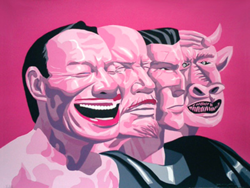 YUE Minjun - Painting - Revolutionary Romanticism