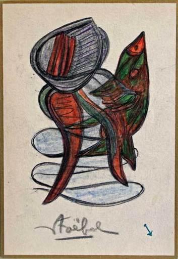 Edgar STOEBEL - 绘画 - Figura-synthèse
