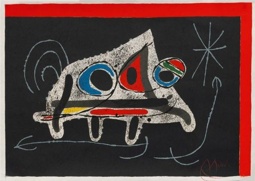 Joan MIRO - Print-Multiple - ézard aux plumes d'or