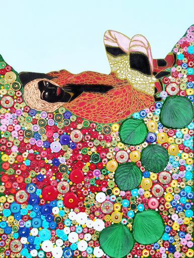 Irina BAST - Gemälde - African Egon Schiele woman