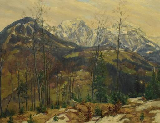 Paul FÖRTSCH - Painting - Landschaft mit Bergkulisse