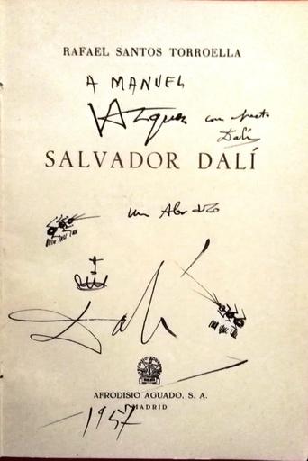 Salvador DALI - Disegno Acquarello
